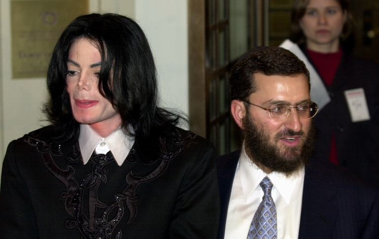 <p>Michael Jackson appears with Rabbi Shmuley Boteach, right, in this February, 2001 image taken at Carnegie Hall in New York.</p>