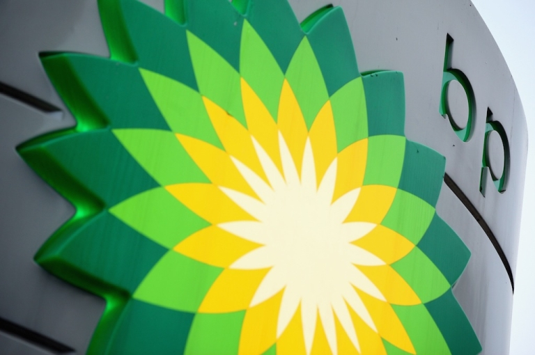 <p>The sign for a BP filling station in Westminster in London, England on Feb. 1, 2011.</p>