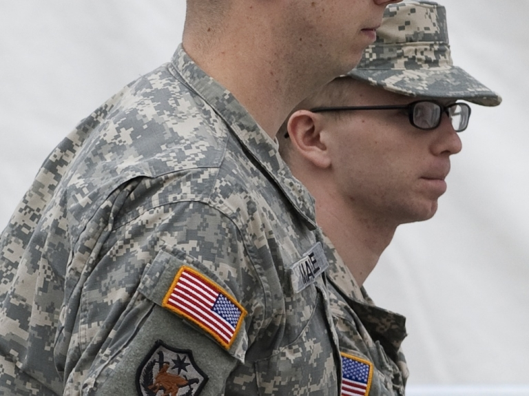 <p>US Army Private First Class Bradley Manning (R) was nominated for the Nobel Peace Prize by The Movement of the Icelandic Parliament.</p>