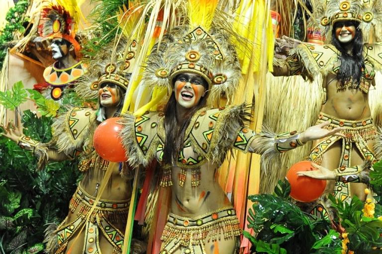 <p>Revelers at Carnival in Rio de Janeiro, Brazil, on March 8, 2011.</p>