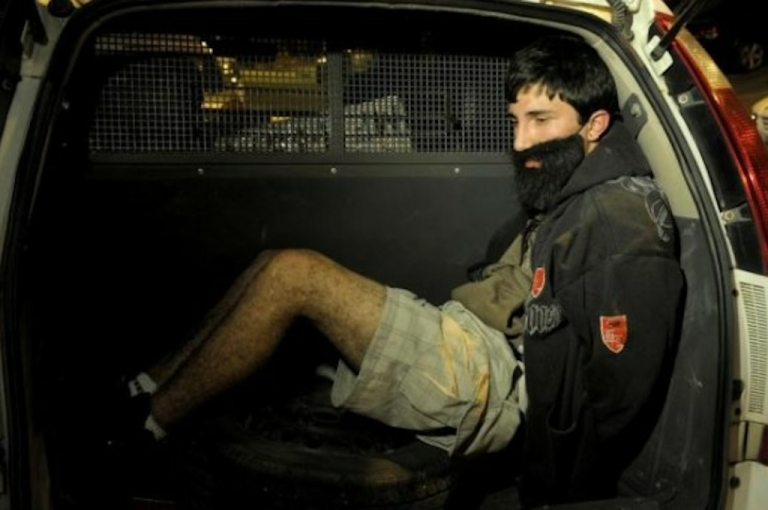 <p>Brendow Cézar Branca Glione, 19, was arrested in São José, Brazil, after carjacking a 66-year-old man while wearing an embarrassingly fake beard attached to his face with an elastic on July 13, 2012.</p>
