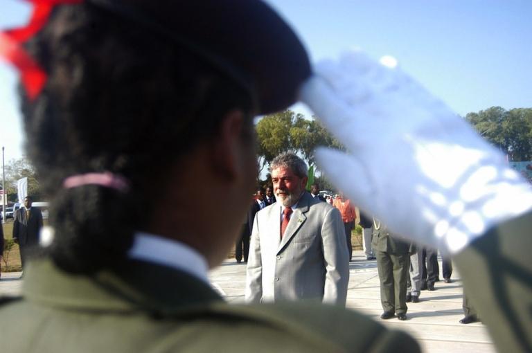 <p>Then-Brazilian President Luiz Inacio Lula da Silva in Maputo on Oct. 16, 2008.</p>
