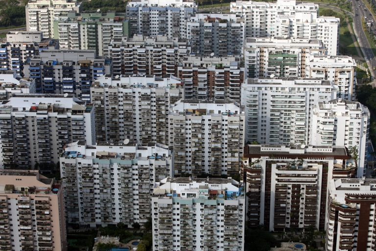 <p>High-rise condos sprout up after a construction boom in Brazil's upper-middle-class neighborhood of Barra de Tijuca in Rio de Janeiro.</p>