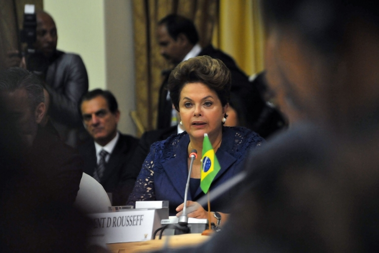 <p>All eyes on Brazil's Rousseff.</p>
