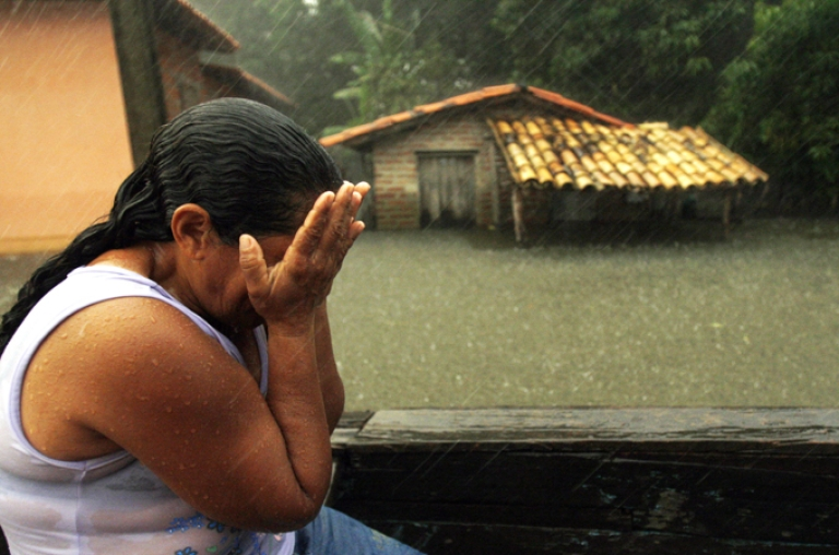 <p>Flooding has killed two and left thousands homeless in northeastern Brazil.</p>