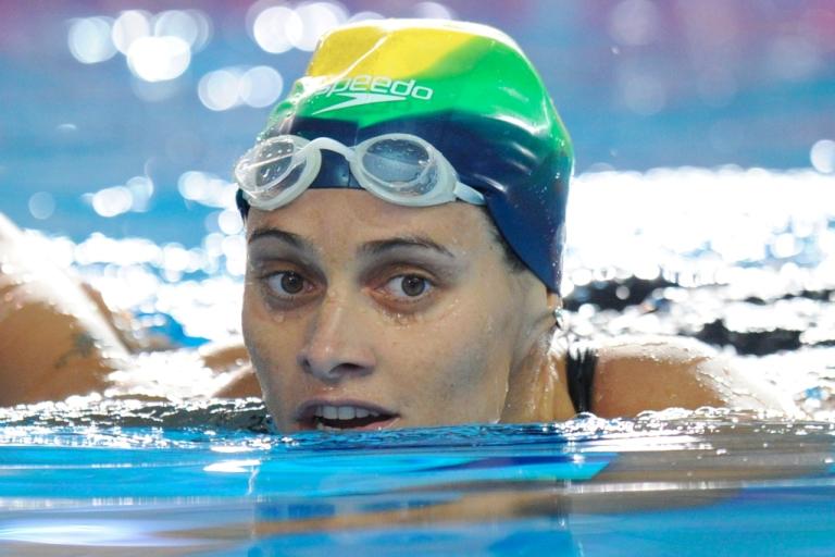 <p>Brazil swimming champion Tatiana Barbosa in a 2011 photo.</p>