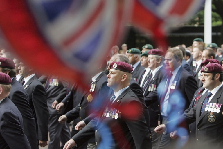 <p>Falklands veterans march in London, on June 17, 2007.</p>