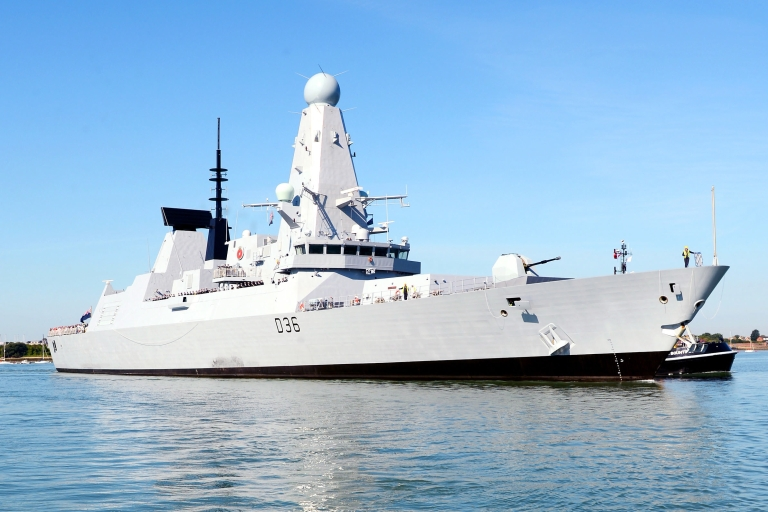 <p>HMS Defender, the Royal Navy's newest type-45 destroyer. Critics say budget cuts will erode Britain's power.</p>
