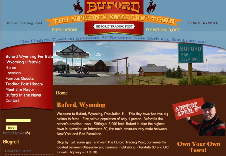 <p>Buford, the smallest town in the United States, was sold on Thursday to two Vietnamese businessmen.</p>