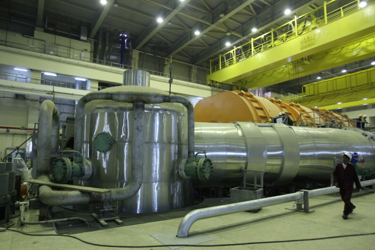 <p>A picture shows the inside of the reactor at the Russian-built Bushehr nuclear power plant in southern Iran.</p>