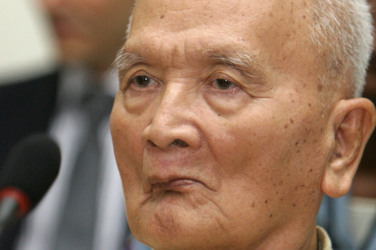 <p>Former Khmer Rouge leader Nuon Chea.</p>