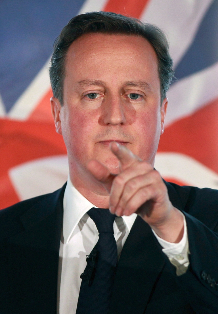 <p>British Prime Minister David Cameron trying to put his finger on what's wrong with capitalism at keynote speech in London yesterday</p>
