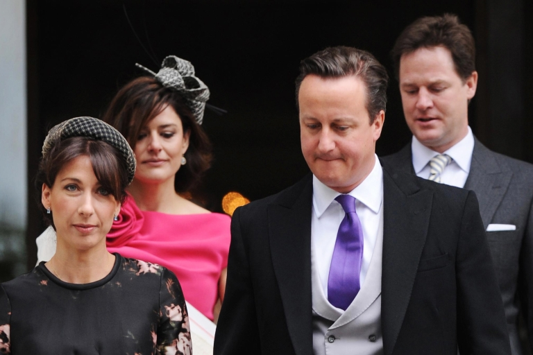 <p>Cameron, Clegg and spouses: Not all marriages are made in heaven.</p>