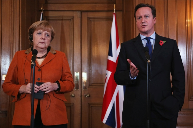 <p>Cameron and Merkel are reported to be close, but his criticism of the EU has prompted other Germans to suggest Britain leave the union.</p>
