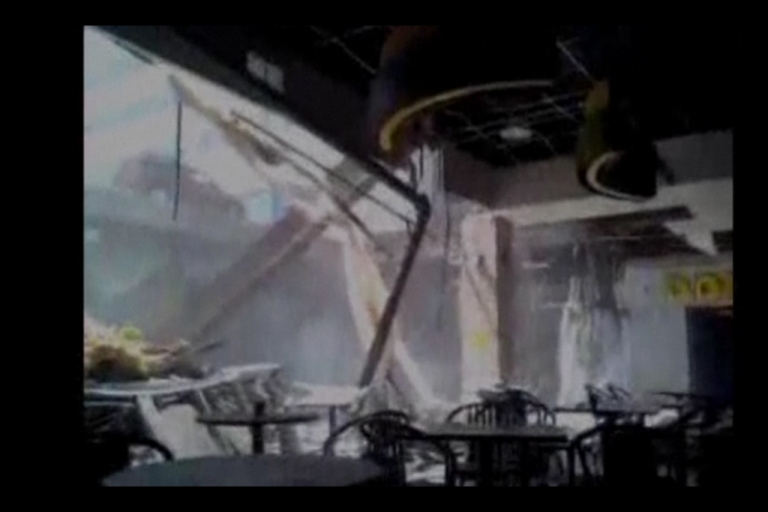 <p>A portion of a roof collapsed in an Ontario shopping mall on June 23, 2012, leaving 22 people with minor injuries and several missing.</p>