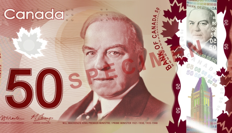 <p>Canada's new plastic $50 banknote is pictured here. Read into it what you will.</p>