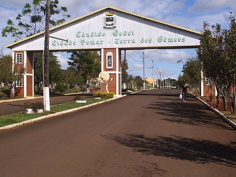 <p>A sign outside the village of Candido Godoi in southern Brazil identifies the place by the nickname Terra dos Gêmeos, or Land of Twins.</p>