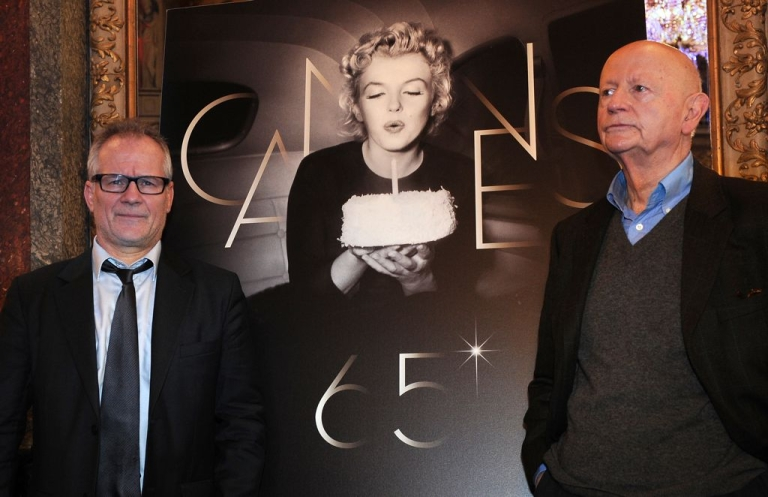 <p>Boys' club? Organizers of the Cannes Film Festival, including president Gilles Jacob (R) and director Thierry Fremaux, are accused of treating women as window dressing instead of serious competitors.</p>