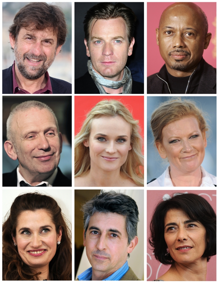 <p>A combination made on April 26, 2012 shows file pictures of the members of the 2012 Cannes Film Festival jury, unvealed on April 25, 2012. From left to right, top to bottom: head of the jury, Italian film director Nanni Moretti, British actor Ewan McGregor, Haitian director Raoul Peck, French fashion designer Jean-Paul Gaultier, German actress Diane Kruger, British director Andrea Arnold, French actress Emmanuelle Devos, US director Alexander Payne, Palestinian director and actress Hiam Abbass.</p>