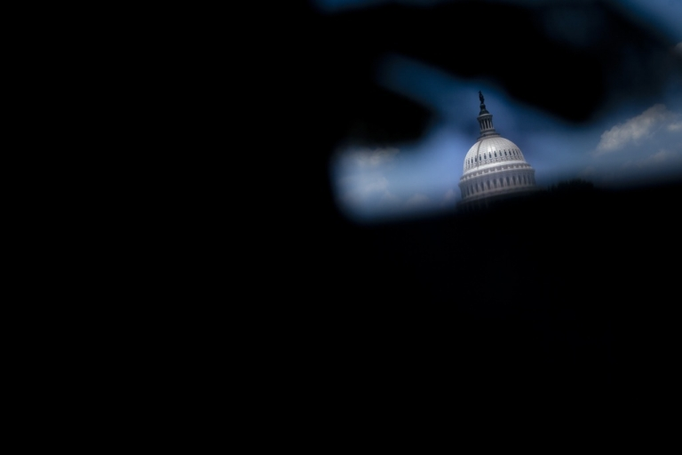 <p>A view of the US Capitol Dome on Capitol Hill July 7, 2011 in Washington, DC.</p>