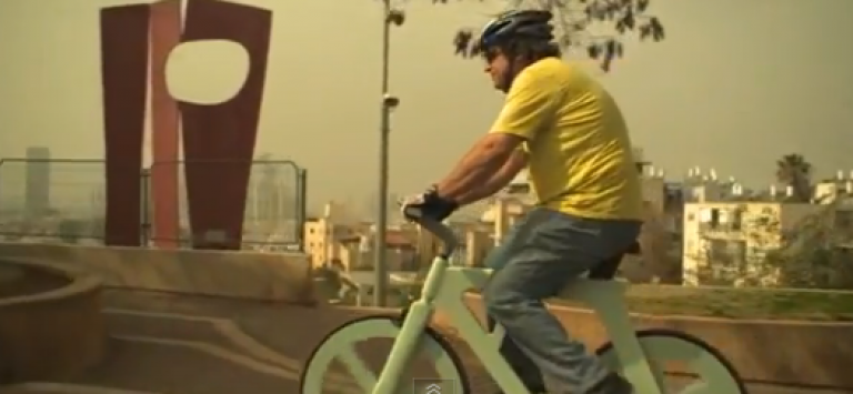 <p>Israeli inventor Izhar Gafni has built a $20 cardboard bicycle that he says is waterproof, fireproof and durable.</p>