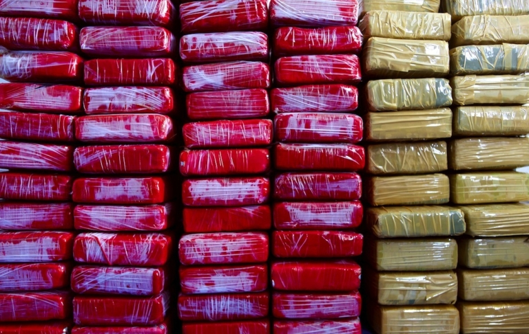 <p>Millions of dollars worth of cocaine seized in the Caribbean sea, where Mexico's Sinaloa cartel is believed to be carving new drug-trafficking routes.</p>