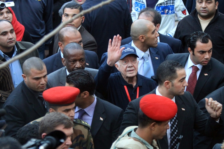 <p>Former U.S. President Jimmy Carter is in Cairo to observe Egyptian elections. He told the New York Times yesterday that Egypt's military government is unlikely to submit fully to an elected civilian government.</p>