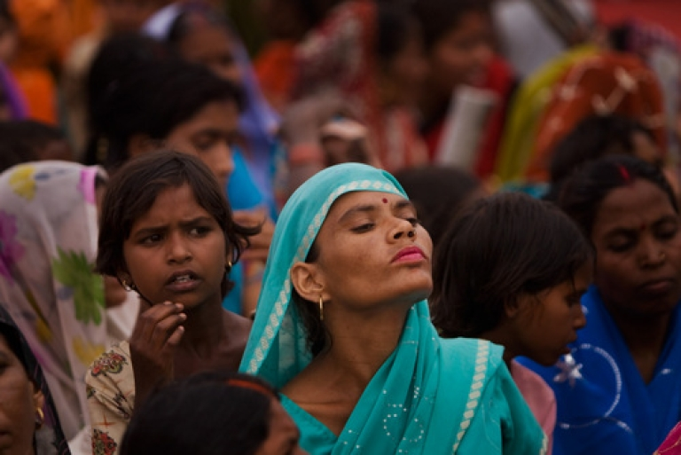 <p>Supporters of Mayawati Kumari, Bahujan Samaj Party (BSP) President and former Chief Minister of Uttar Pradesh state, listen to her speech during a political rally on April 6, 2009 in Palwal, India. Mayawati has since come under scrutiny for possessing