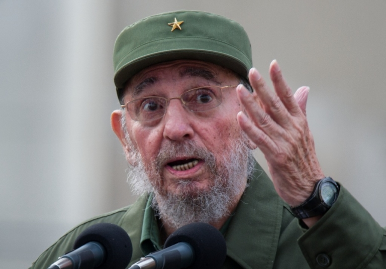 <p>Former Cuban President Fidel Castro delivers a speech during the commemoration of the 50th Anniversary of the Committees of Defense of the Revolution (CDR) on Sept. 28, 2010 in Havana.</p>