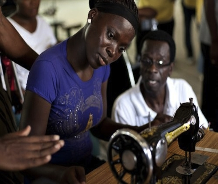 <p>Employees learn new skills at INDEPCO factory in Haiti, which was given grant money by the Clinton Bush Haiti Fund. The Fund has spent all the money it was tasked to distribute after the 2010 earthquake and will cease operating in Haiti at the end of the month.</p>
