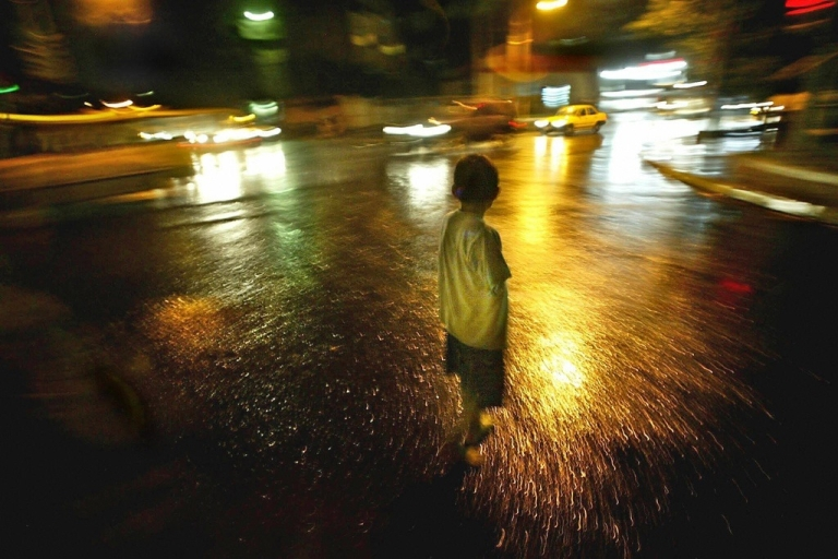 <p>A child addicted to drugs in San Salvador on June 26, 2003.</p>