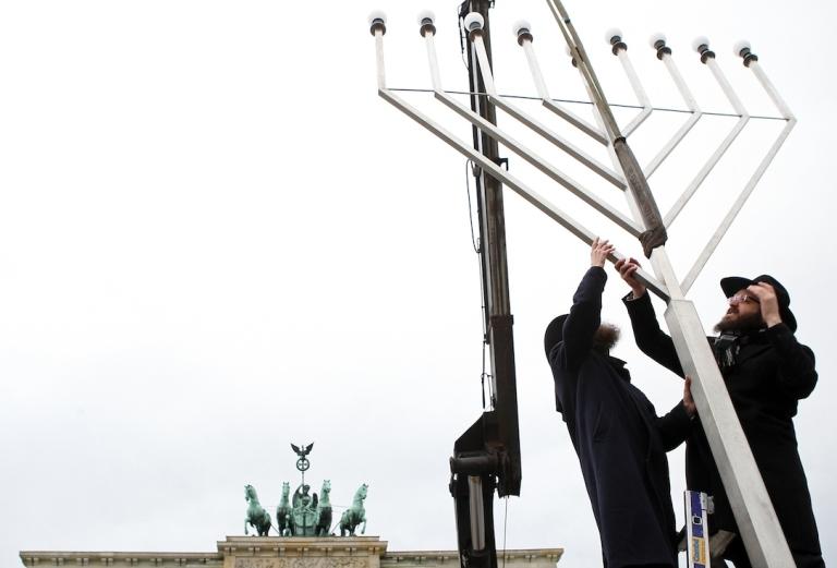 <p>Hanukah in Berlin, Germany.</p>