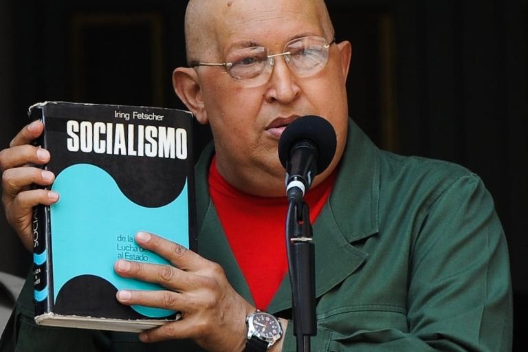 <p>Chavez speaks on his favorite subject.</p>