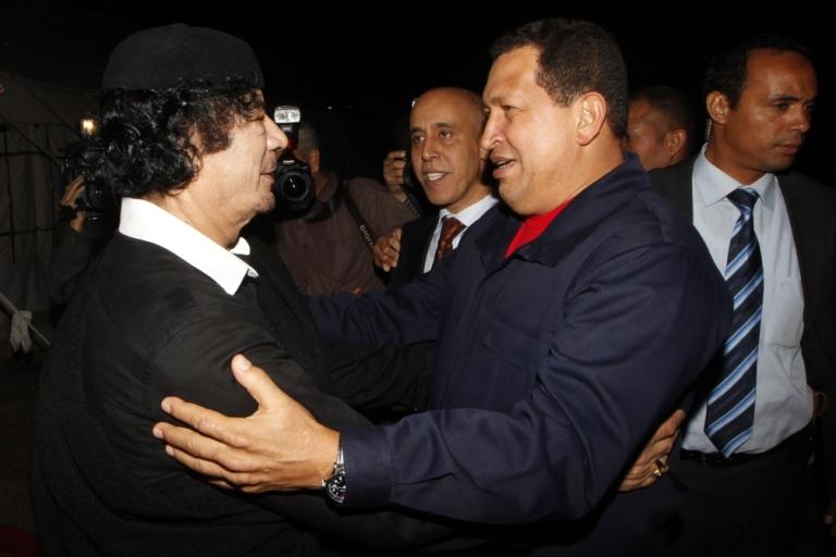 <p>Muammar al-Gaddafi, and Chavez, his friend to the end.</p>