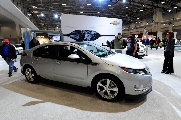 <p>The Chevrolet Volt on display at the 2012 Washington Auto Show in Washington, DC. on Jan. 31, 2012.</p>