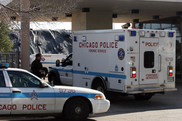 <p>A 4-year-old Chicago girl is hospitalized after she was shot in the ankle by a gun hidden between two mattresses while jumping on the bed.</p>