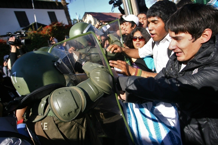 <p>Demonstrators and police have clashed for months.</p>