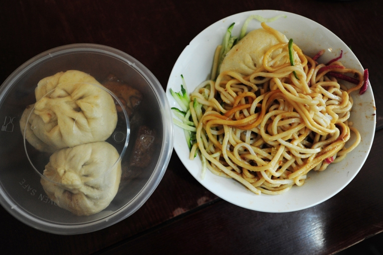 <p>Pork noodles in brown bean sauce at Yaoji Chaogan restaurant in Beijing. The restaurant's popularity soared due to U.S. Vice President Joe Biden's impromptu pork noodle meal there on Aug. 22, 2011.</p>