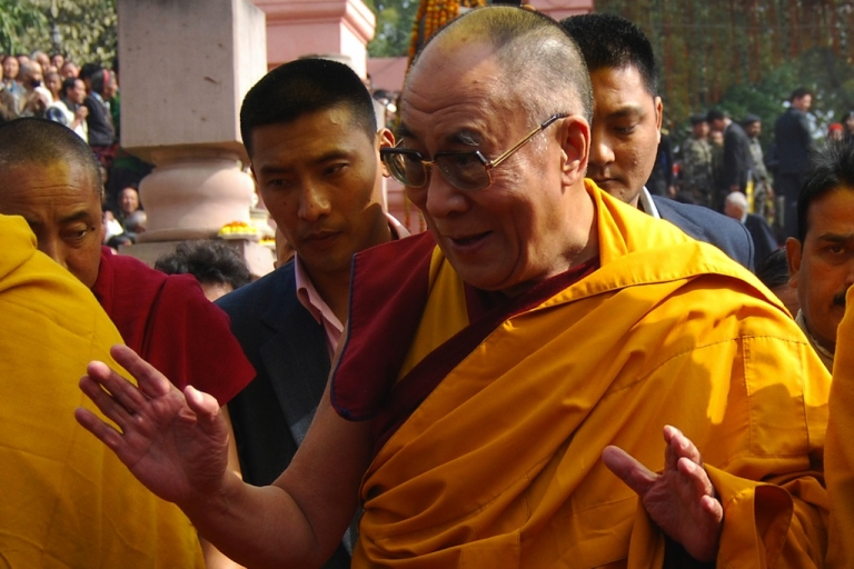 <p>Tibetan spiritual leader the Dalai Lama visits the Mahabodhi Temple on his way back after the conclusion of the Kalachakra Festival in Bodhgaya on January 11, 2012. Kalachakra 2012, a festival of teachings and meditations will take place from January 1, 2012 for ten days in the northern Indian state of Bihar and will be attended by Tibetan Spiritual Leader The Dalai Lama.</p>