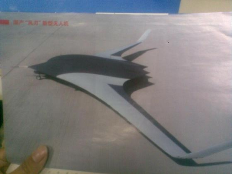 <p>Sneak peek at China's new Wing Blade drone from Flightflobal aviation blog.</p>
