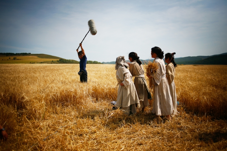 <p>On location shooting in Inner Mongolia, near the Russia-China boarder.</p>