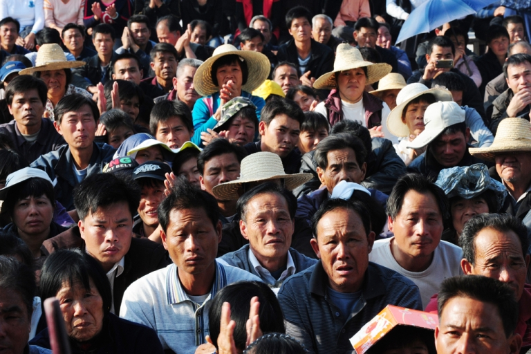 <p>Villagers at a rally in Wukan in China's Guangdong province on Dec. 21, 2011.</p>