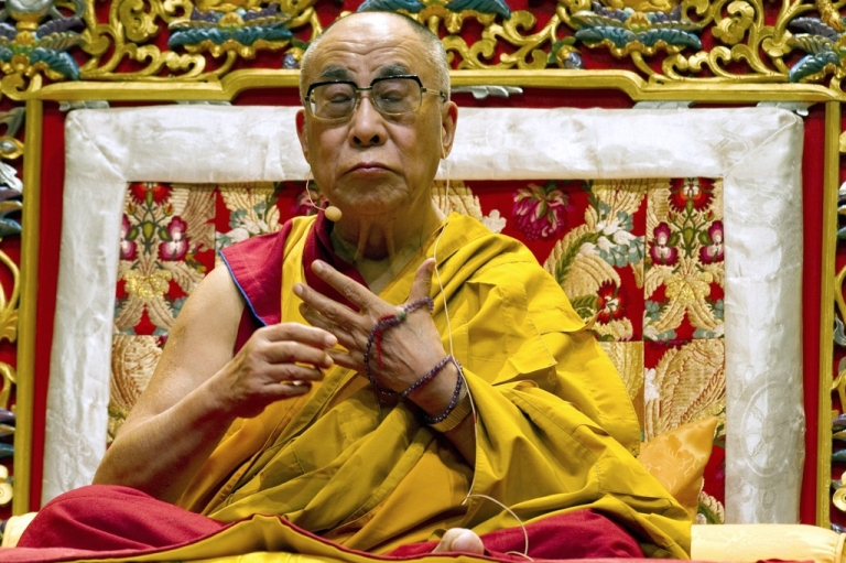 <p>The Dalai Lama, the Tibet's exiled spiritual leader, gives a conference on August 14, 2011 at the Zenith of the French southwestern city of Toulouse. Beijing has blamed the spiritual leader for encouraging the string of Tibetan protestors who have set themselves on fire.</p>