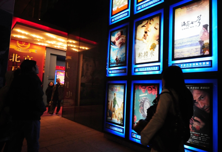 <p>Moviegoers at a multiplex cinema in Beijing in February 2009. China is a lucrative market for US film studios, and the US is investigating whether a handful of Hollywood studios may have bribed Chinese officials to get ahead.</p>
