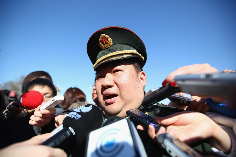 <p>The delegate Mao Xinyu, grandson of Chairman Mao Zedong, is surrounded by reporters as he walks to the Great Hall of the People bofore the opening ceremony of the Chinese People's Political Consultative Conference (CPPCC) on March 3, 2011 in Beijing, China.</p>