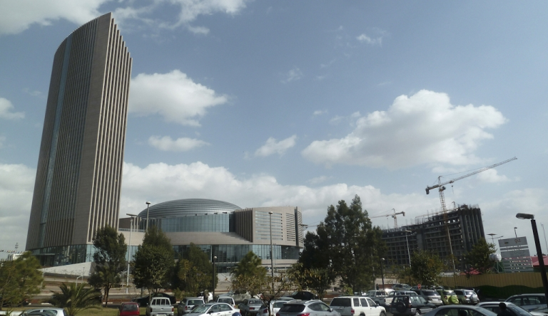 <p>A view of the new African Union headquarters in Addis Ababa on January 24, 2012. The AU headquarters was built and fully funded by the Chinese government at a cost of $200 million. The building will host this year's AU Summit in the Ethiopian capital, which brings together heads of state from across the continent. The towering building – Addis Ababa's tallest – symbolizes China's strengthening ties with Africa, a major source of foreign investment from China.</p>