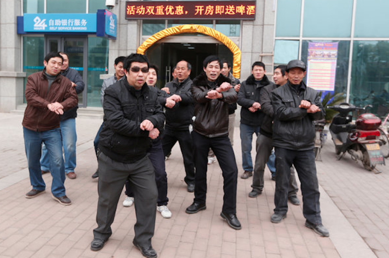 <p>Chinese 'Gangnam Style' protest.</p>