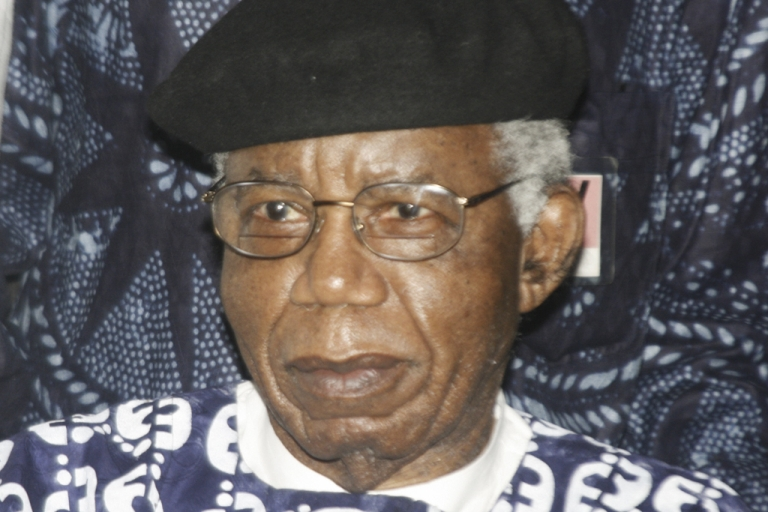 <p>Nigerian writer Chinua Achebe is pictured in 2009 during a welcoming ceremony upon his return to Nigeria for the firrst time in over 10 years. Achebe, whose most famous work is 1958's