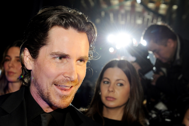 <p>Batman star Christian Bale arrives on the red carpet for the screening of the film