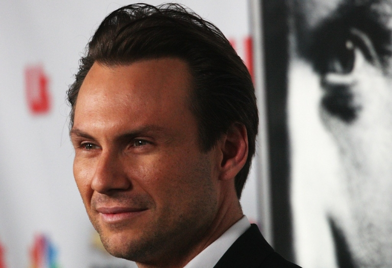 <p>Actor Christian Slater in Los Angeles, California on Oct. 4, 2008.</p>